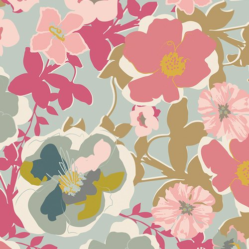 Blomma Garden Pastiche in Voile from Heartland by Pat Bravo For Art Gallery Fabrics