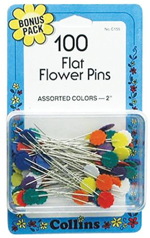 Collins Flat Fower Pins 100 ct