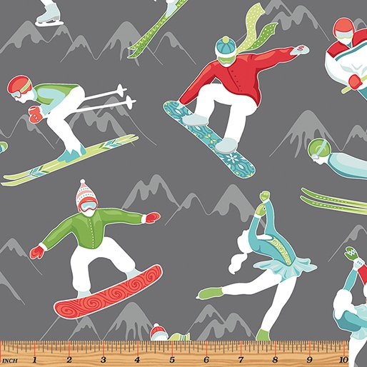 2 Yards 24 - Winter Games ATHLETES by Amanda Murphy for Contempo