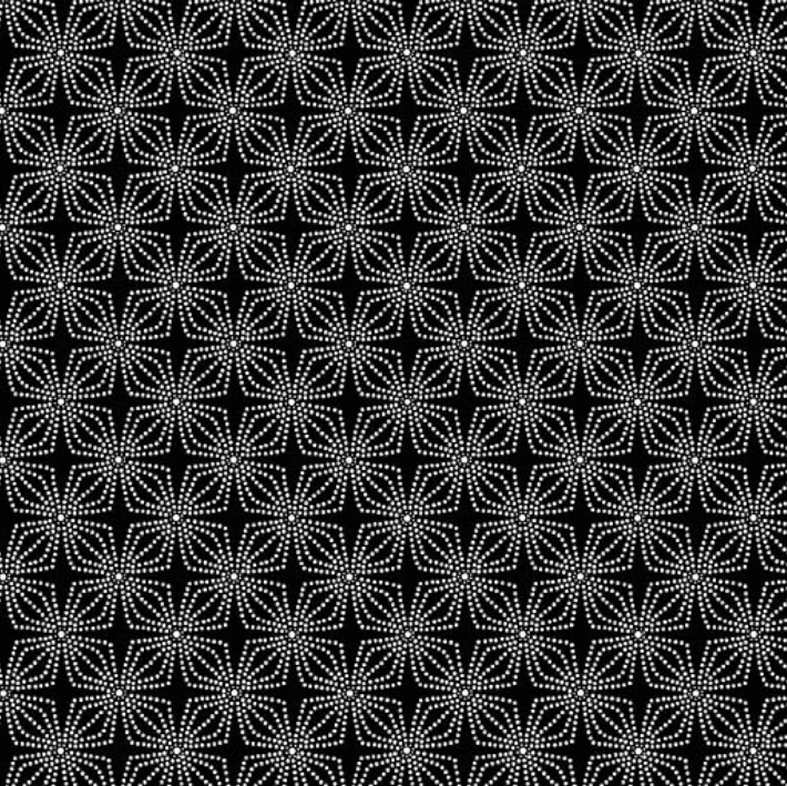 09806 12 Geo Bloom Color Theory Basic for Kanvas Studio. 100% cotton 43 wide