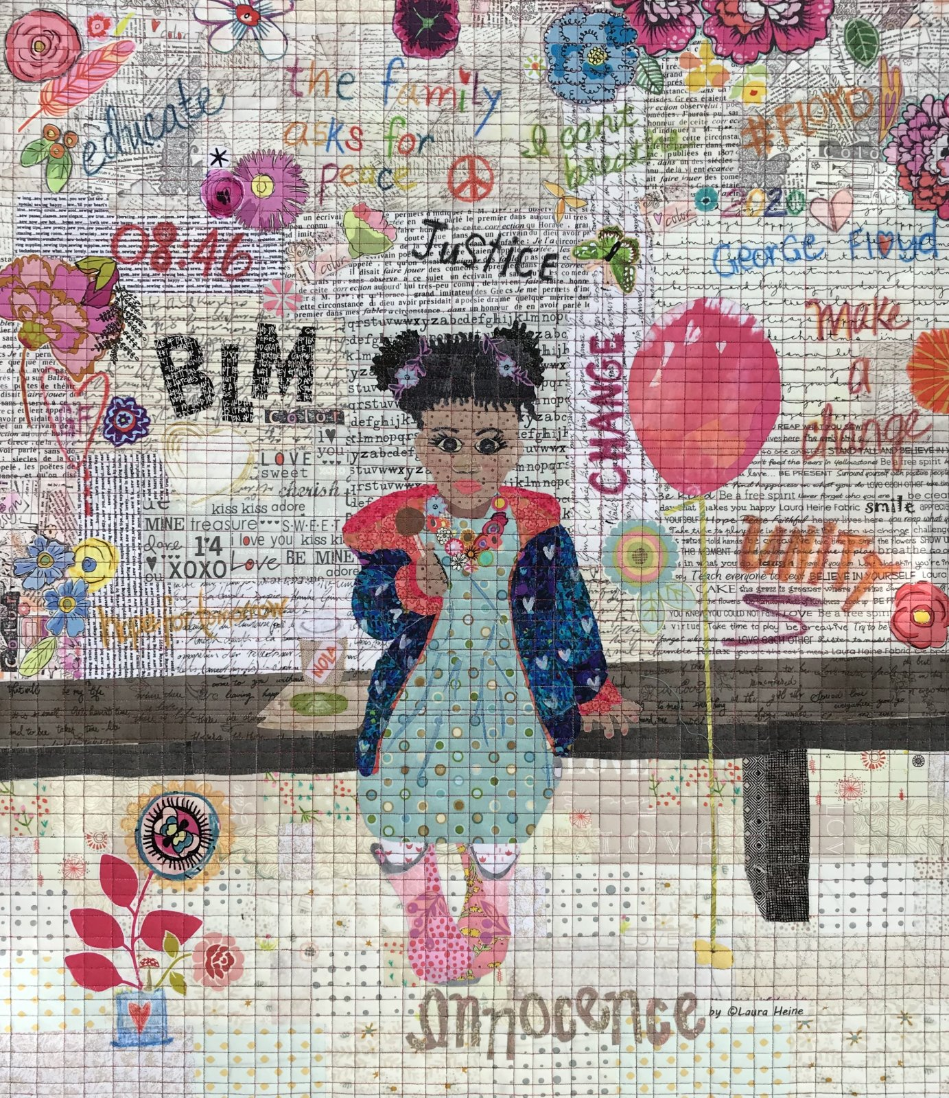 LIMITED EDITION!! Innocence Collage Quilt Pattern by Laura Heine