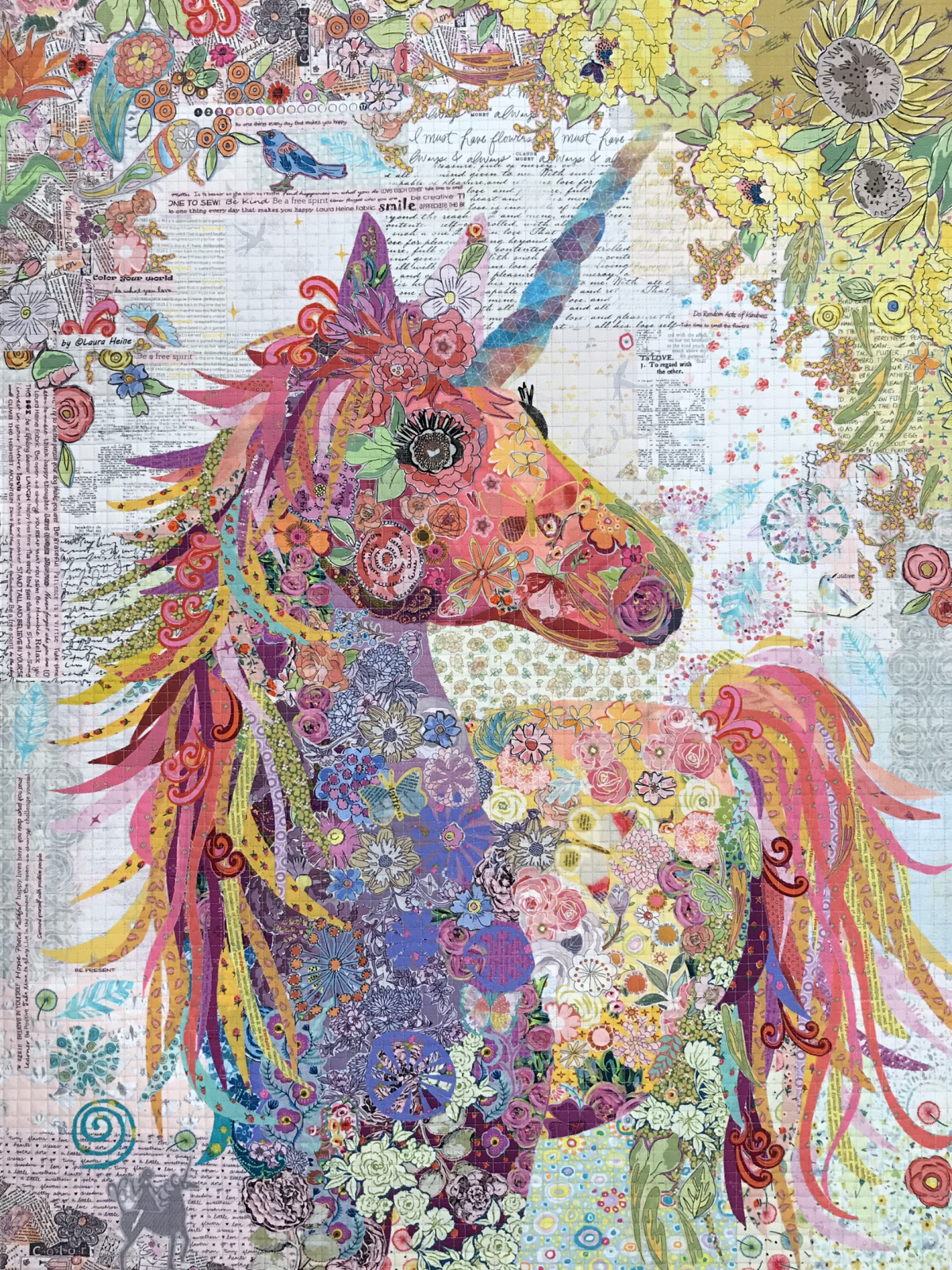 Nola...Unicorn Collage Kit by Laura Heine