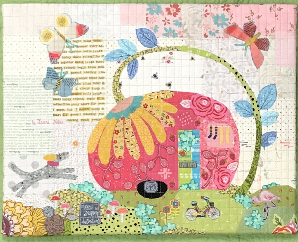 Teeny Tiny #3 Collage Vintage Trailer Kit by Laura Heine