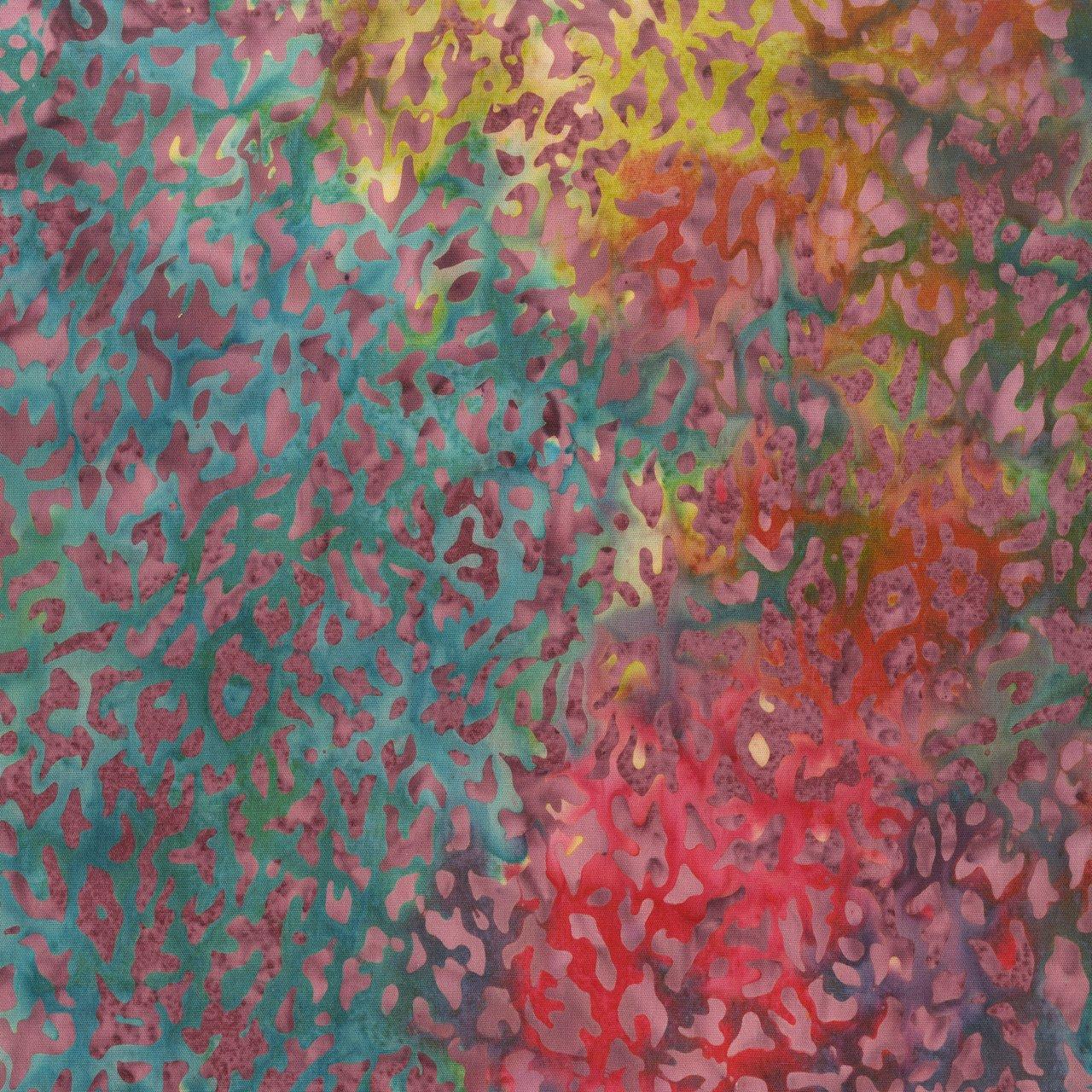 228 Q 5 RAINBOW  ART INSPIRED  SEA BATTLE BY ANTHOLOGY FABRICS