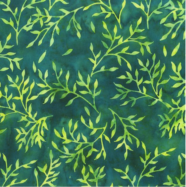 340Q 8 Joy Teal Batik for Anthology Fabrics. 100% cotton 43 wide