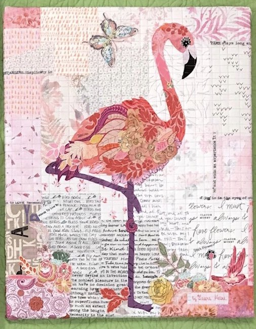Teeny Tiny #3 Collage Flamingo Kit by Laura Heinr