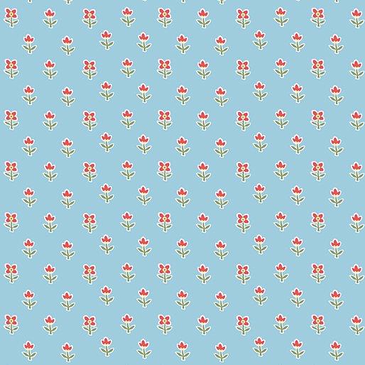 03816 05 FLORET SKY BLUE  SIMPLY CHIC BY ANNA STUART FOR BENARTEX FABRICS