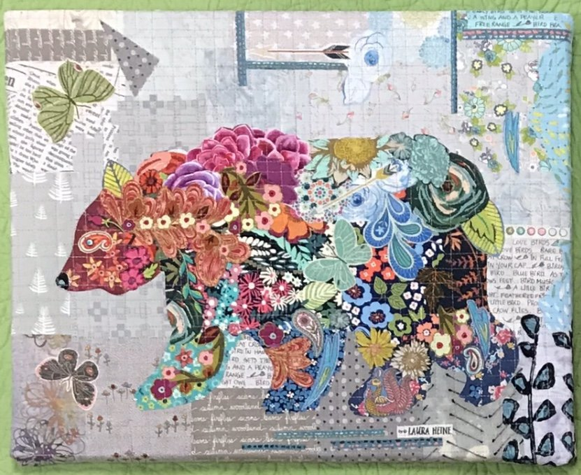 Teeny Tiny #3 Collage Bear Kit by Laura Heine
