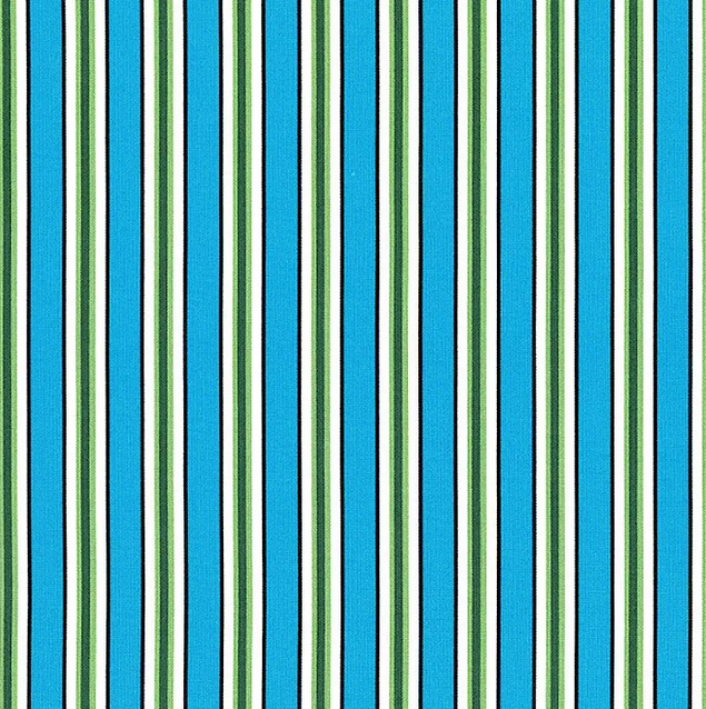 52486 10 Cyan Candy Stripe Five + Ten by Desnyse Schmidt for Windham Fabrics. 100% cotton 43 wide