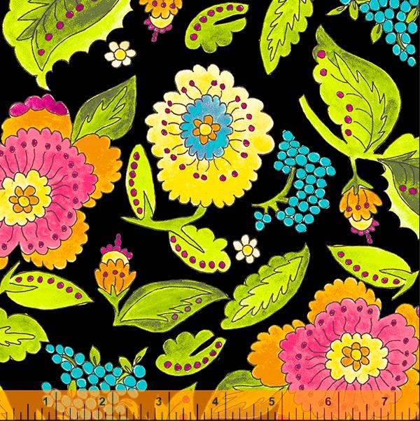 52691 2 Happy Chance Happy Garden by Laura Heine for Windham Fabrics. 100% cotton 43 wide  PRE-ORDER