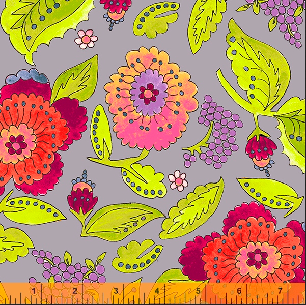 52691 3 Happy Chance Happy Garden by Laura Heine for Windham Fabrics. 100% cotton 43 wide  PRE-ORDER