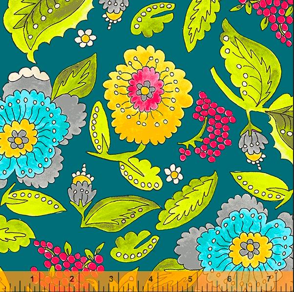 52691 4 Happy Chance Happy Garden by Laura Heine for Windham Fabrics. 100% cotton 43 wide  PRE-ORDER