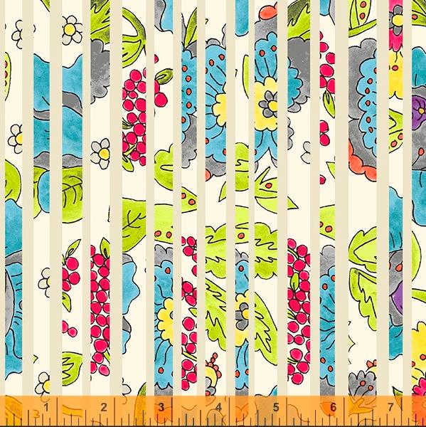 52692 1 Happy Chance Happy Stripe by Laura Heine for Windham Fabrics. 100% cotton 43 wide  PRE-ORDER