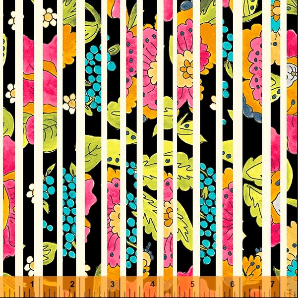 52692 2 Happy Chance Happy Stripe by Laura Heine for Windham Fabrics. 100% cotton 43 wide  PRE-ORDER