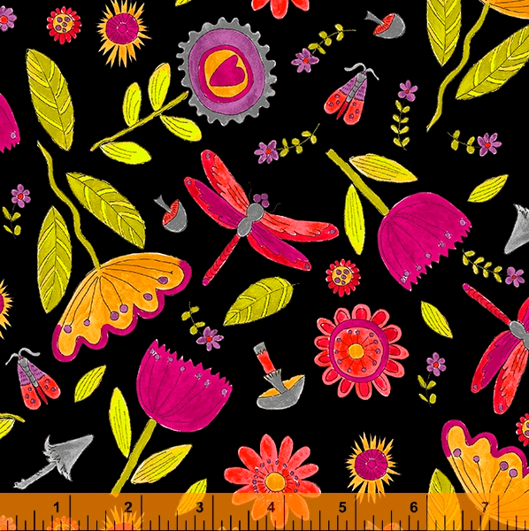 52693 2 Happy Chance Field by Laura Heine for Windham Fabrics. 100% cotton 43 wide  PRE-ORDER