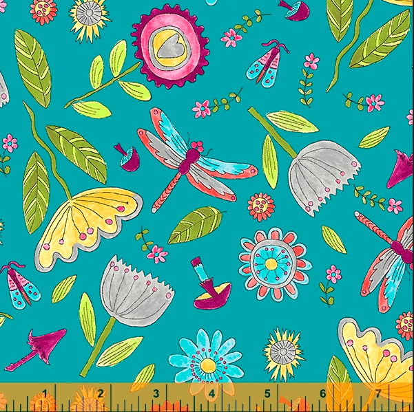 52693 5 Happy Chance Field by Laura Heine for Windham Fabrics. 100% cotton 43 wide  PRE-ORDER