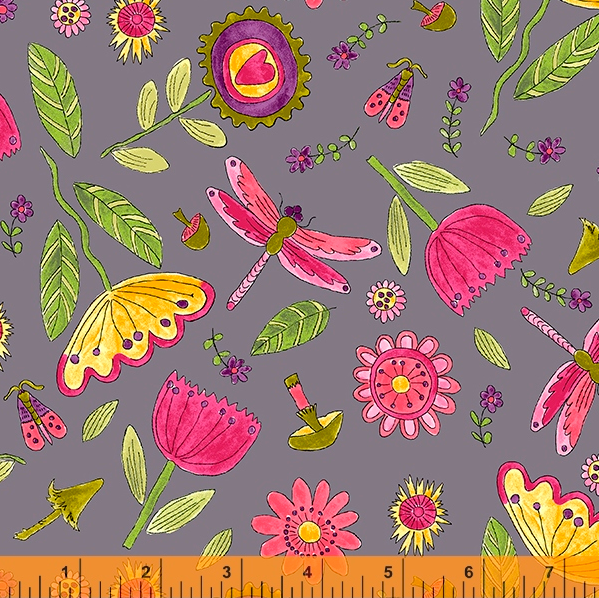 52693 6 Happy Chance Field by Laura Heine for Windham Fabrics. 100% cotton 43 wide  PRE-ORDER