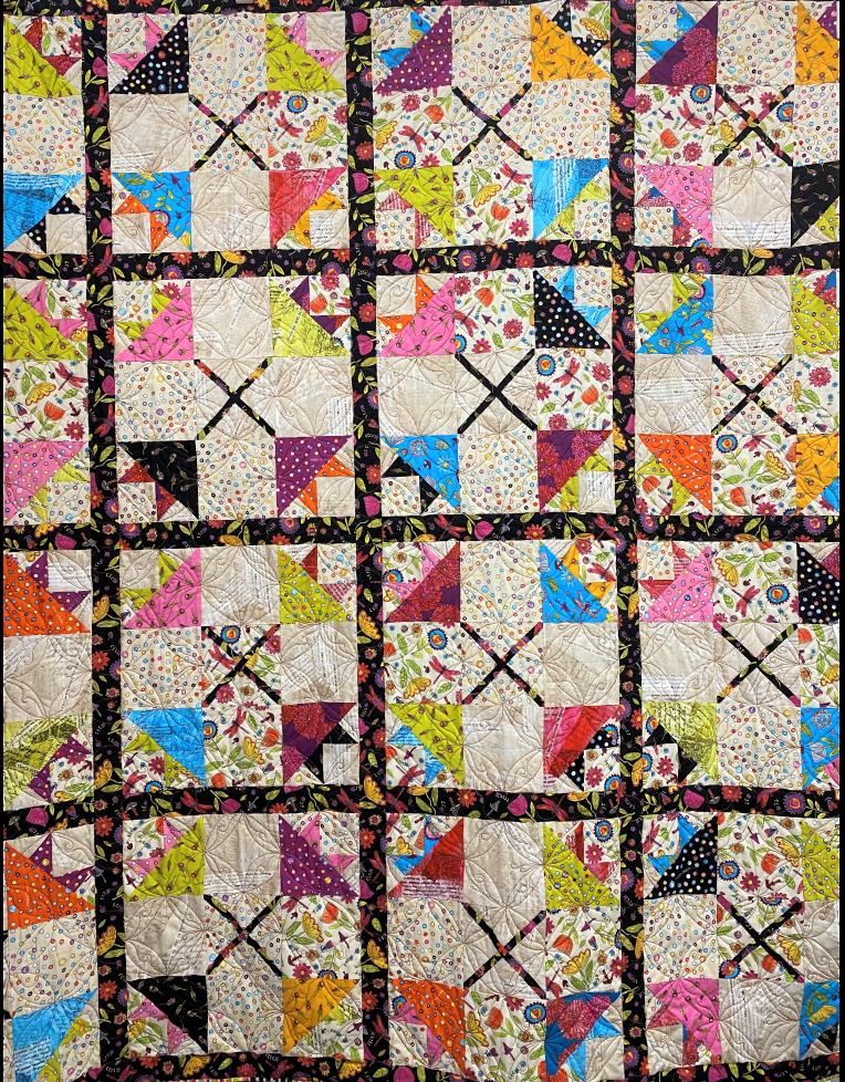 64 Flowers Quilt by Lauras Destash