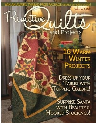 Pheasant Collage PATTERN in Primitive Quilts Magazine  Winter 2018 Issue