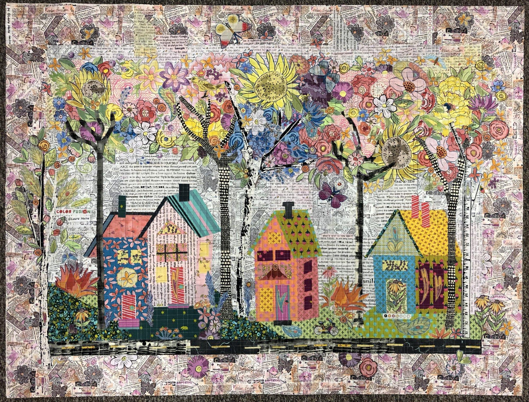 Birch Street Collage Kit by Laura Heine WAITING LIST