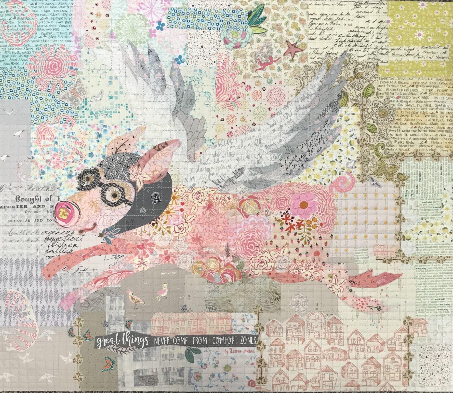 Aviatrix Collage Pattern by Laura Heine