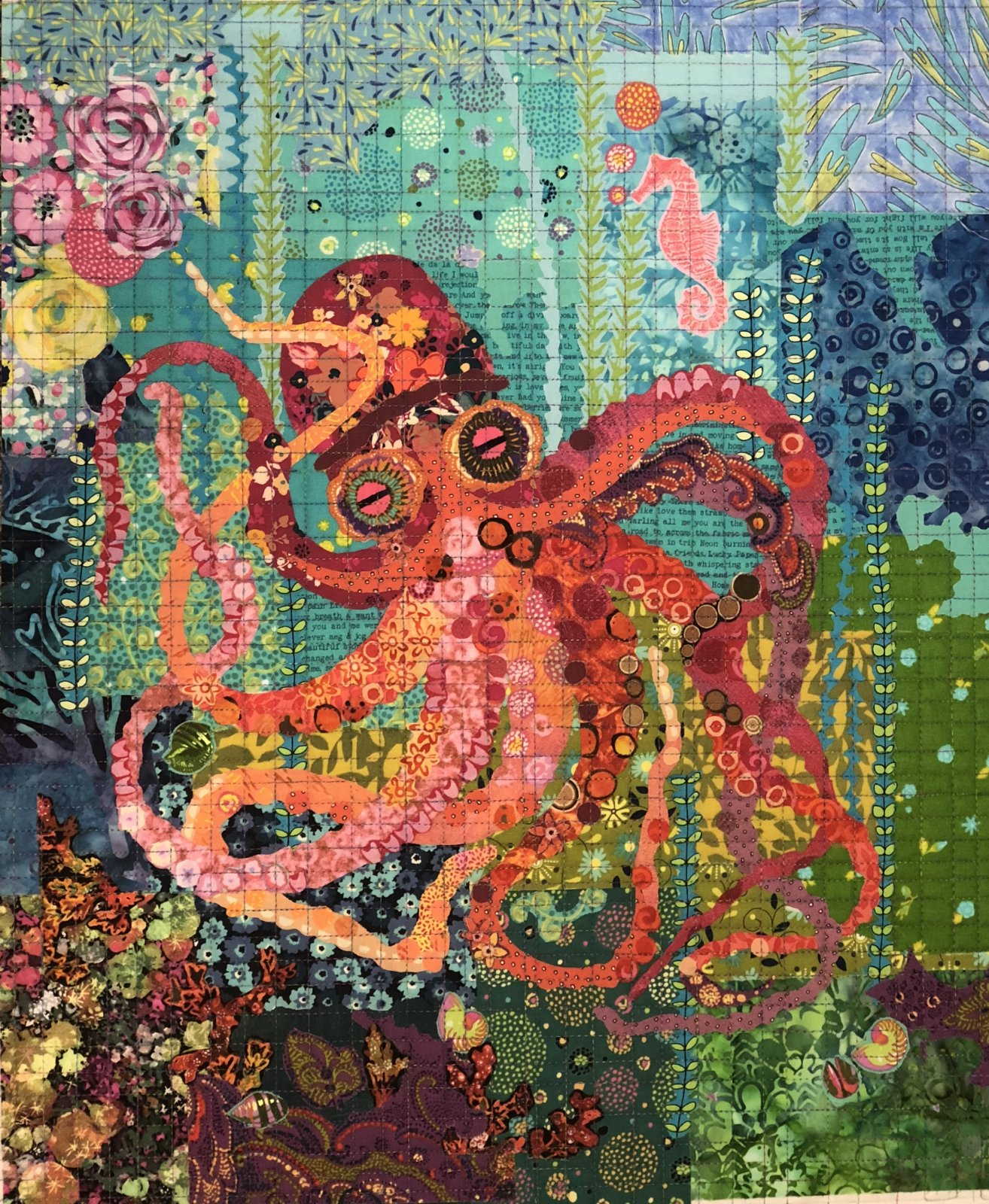 Teeny Tiny #4 Collage Kit Octopus by Laura Heine