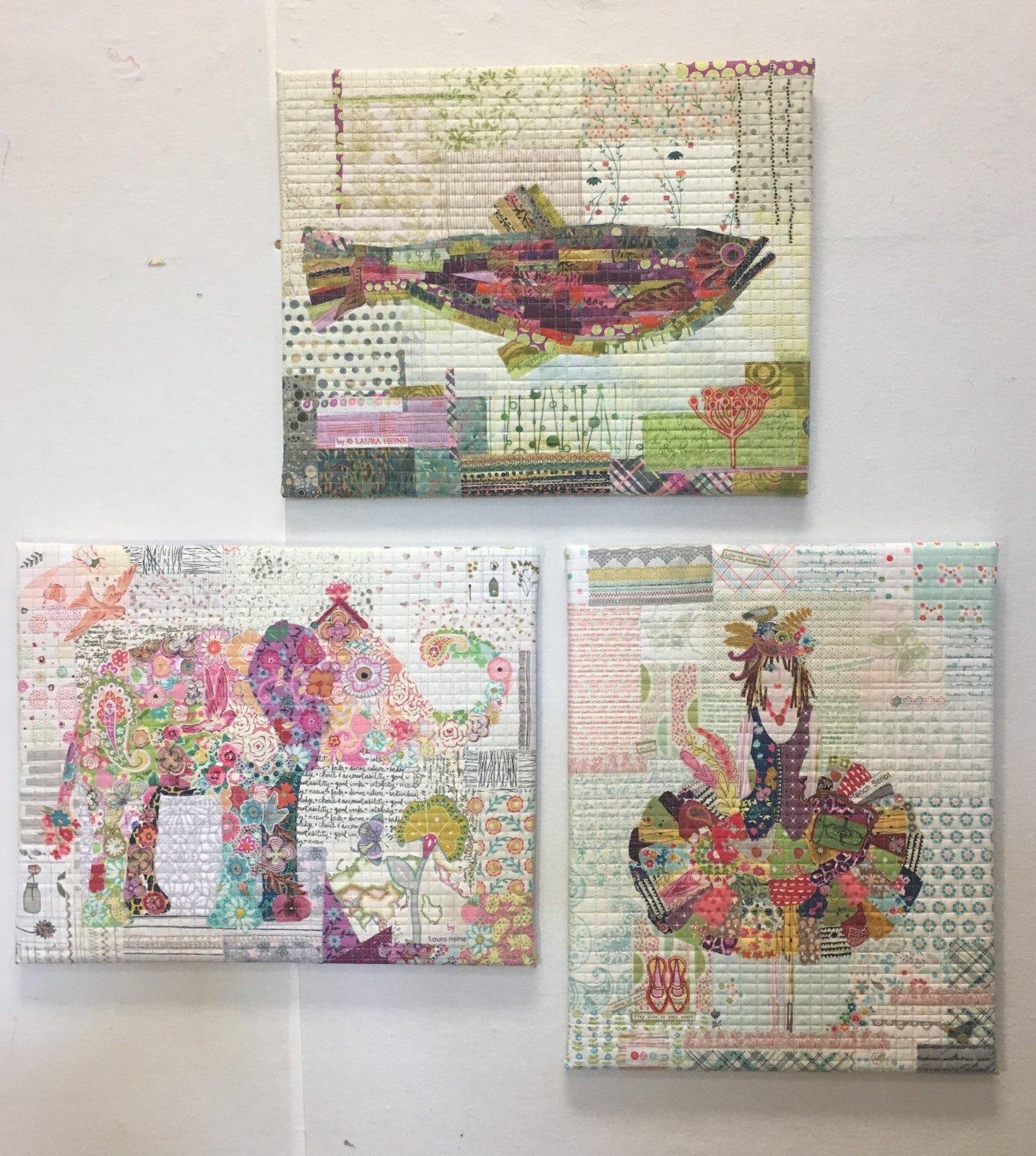 Teeny Tiny Collage PATTERN Group #1 Dress, Elephant, Fish