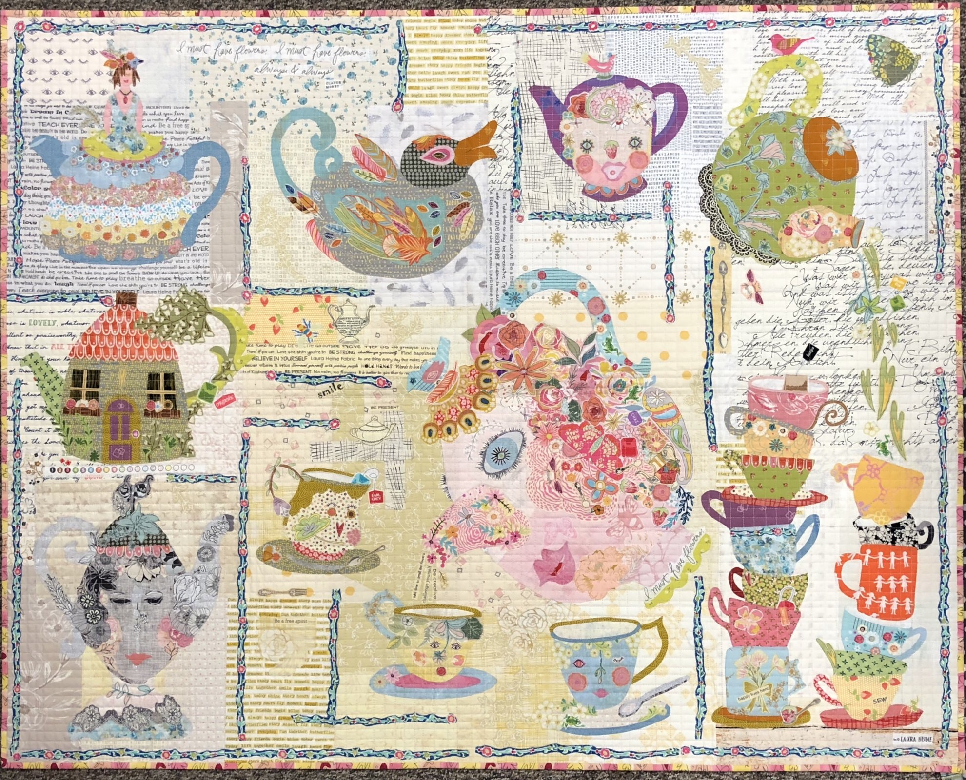 Tea Party Collage Kit by Laura Heine