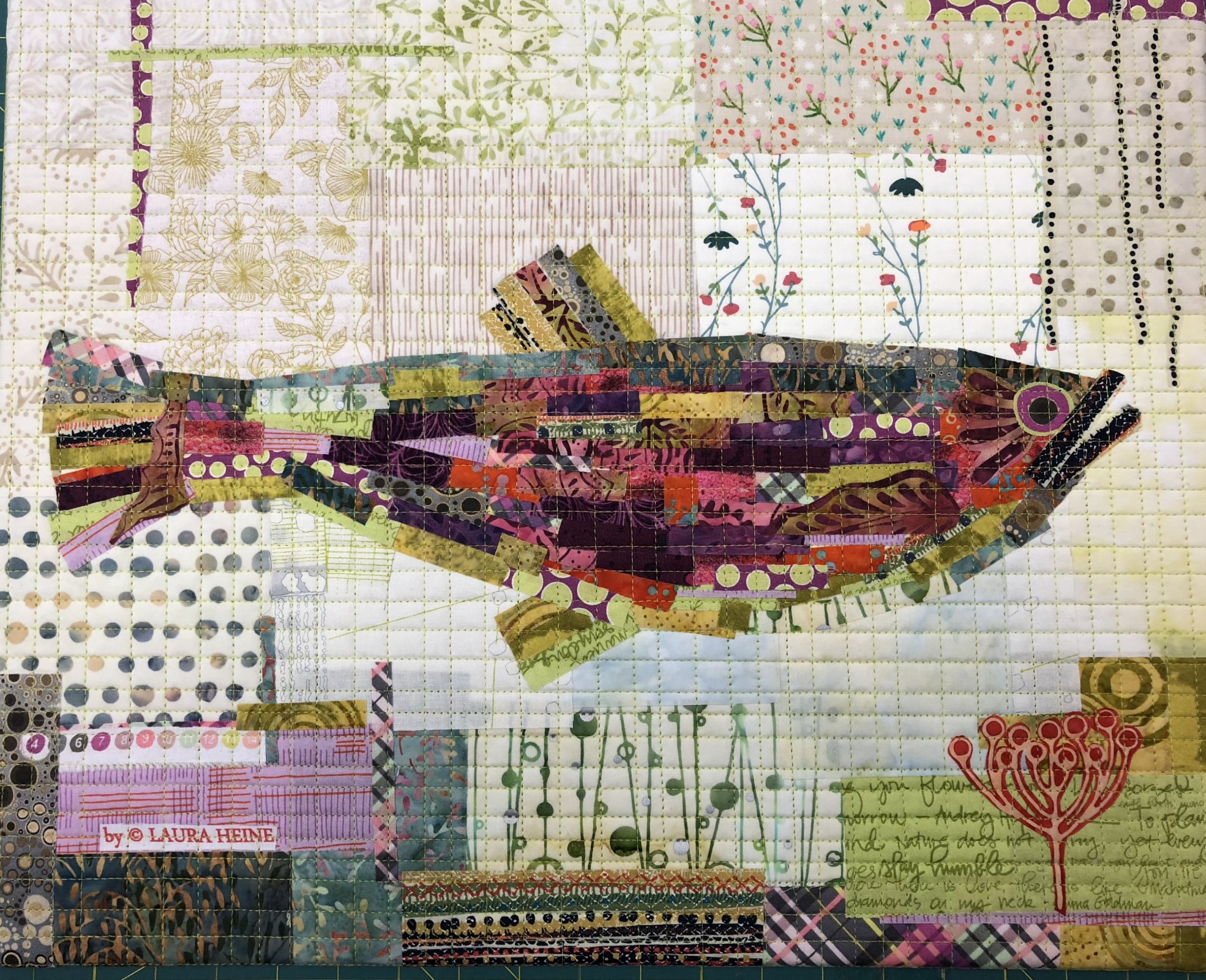 Teeny Tiny Collage #1 Fish KIT by Laura Heine