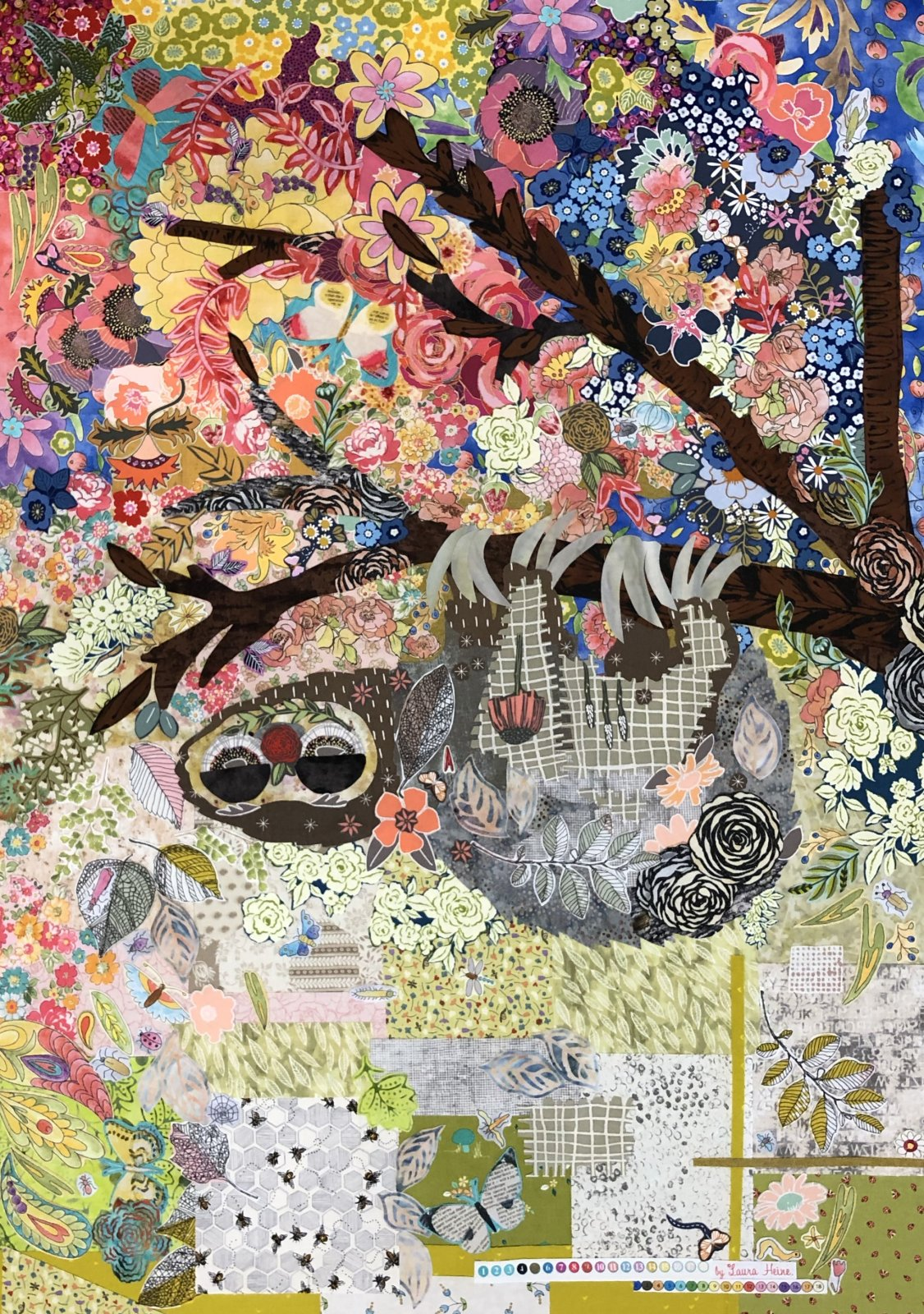 Cloth Sloth Collage Kit by Laura Heine