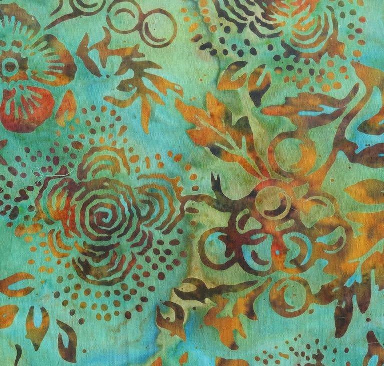 221Q 4 Batik for Anthology Fabrics. 100% cotton 43 wide