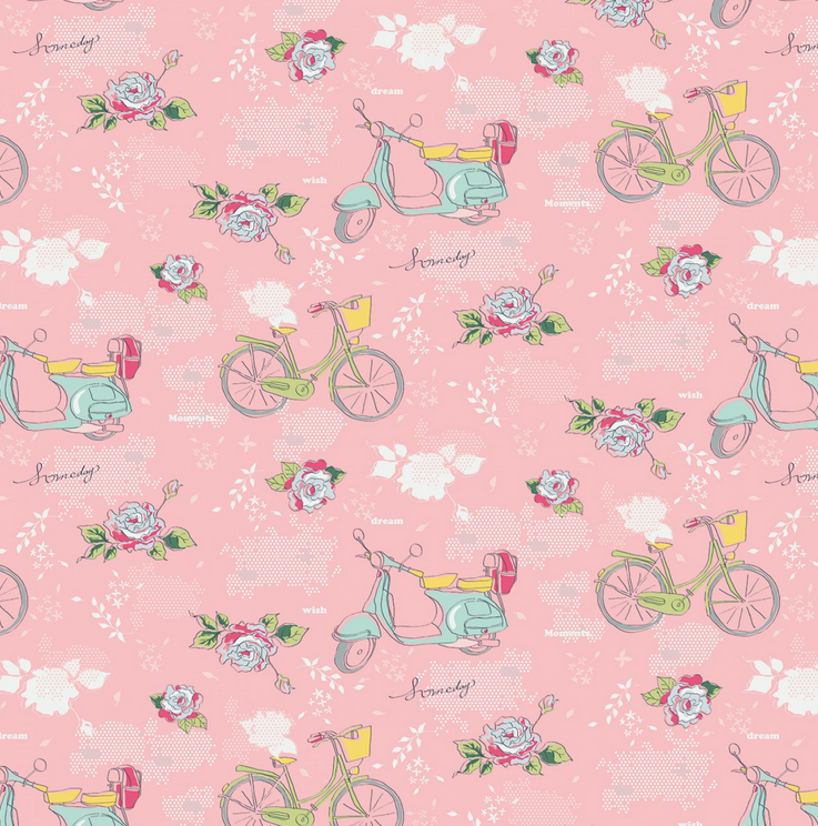 C7910 Someday Main Pink by Minki Kim for Riley Blake Designs. 100% cotton 43 wide
