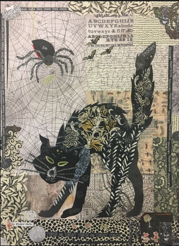 Black Cat Collage Kit by Laura Heine 2nd Version