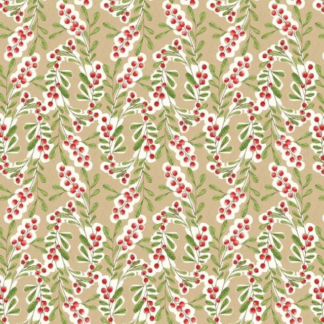 112104041 Much Joy Beige Merry Stitches by Cori Dantini for Blen