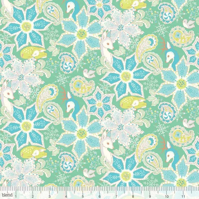 125102032 Christmas Dear by Stacy Peterson by Blend 100% cotton 44 wide