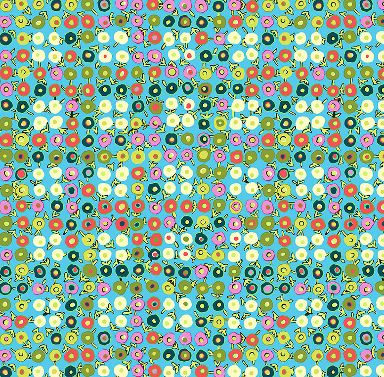 CPAB017 Water Butter Cups by Amy Butler for Free Spirit Fabrics. 100% cotton 43 wide