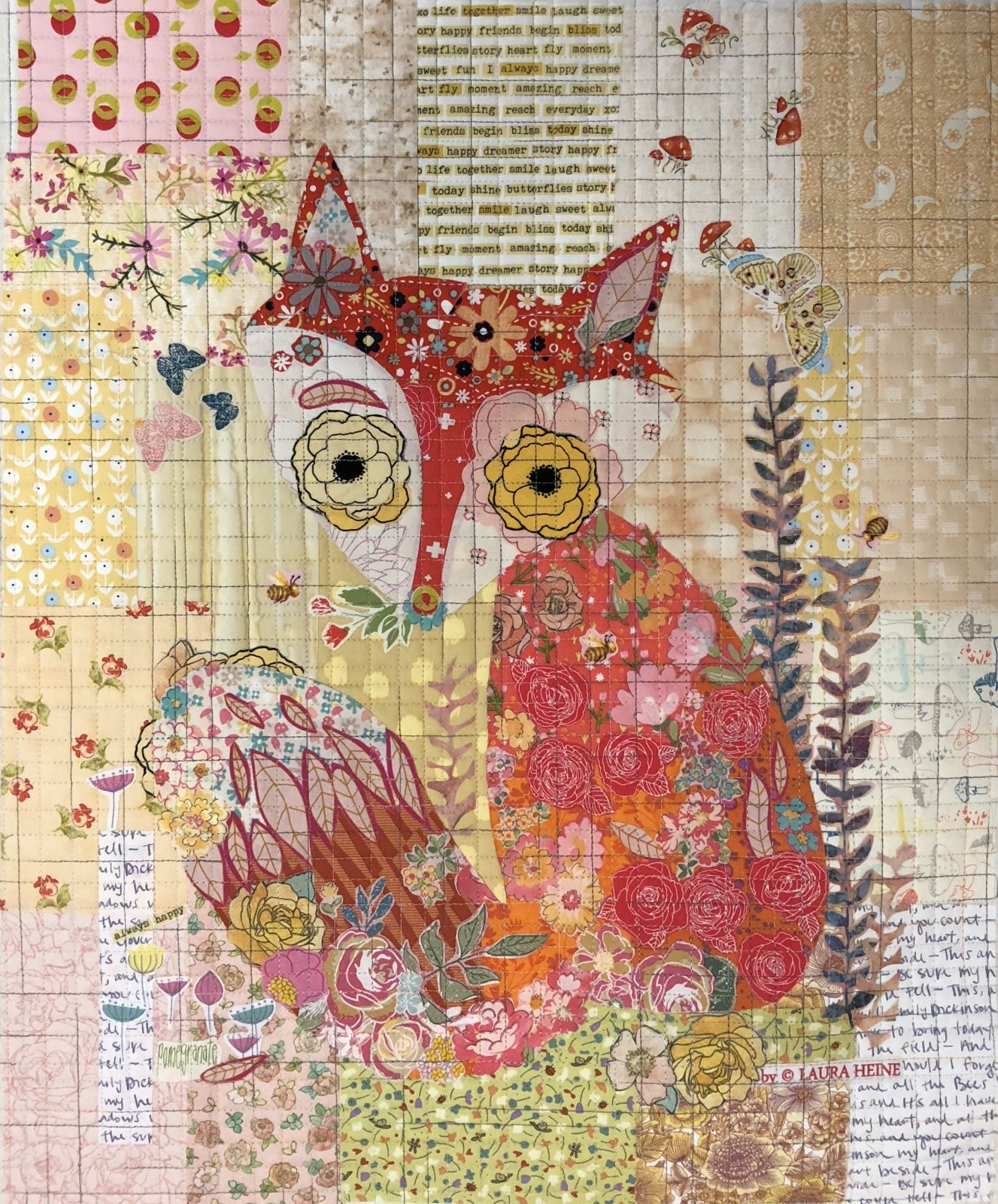 Teeny Tiny Collage #2 Fox KIT by Laura Heine