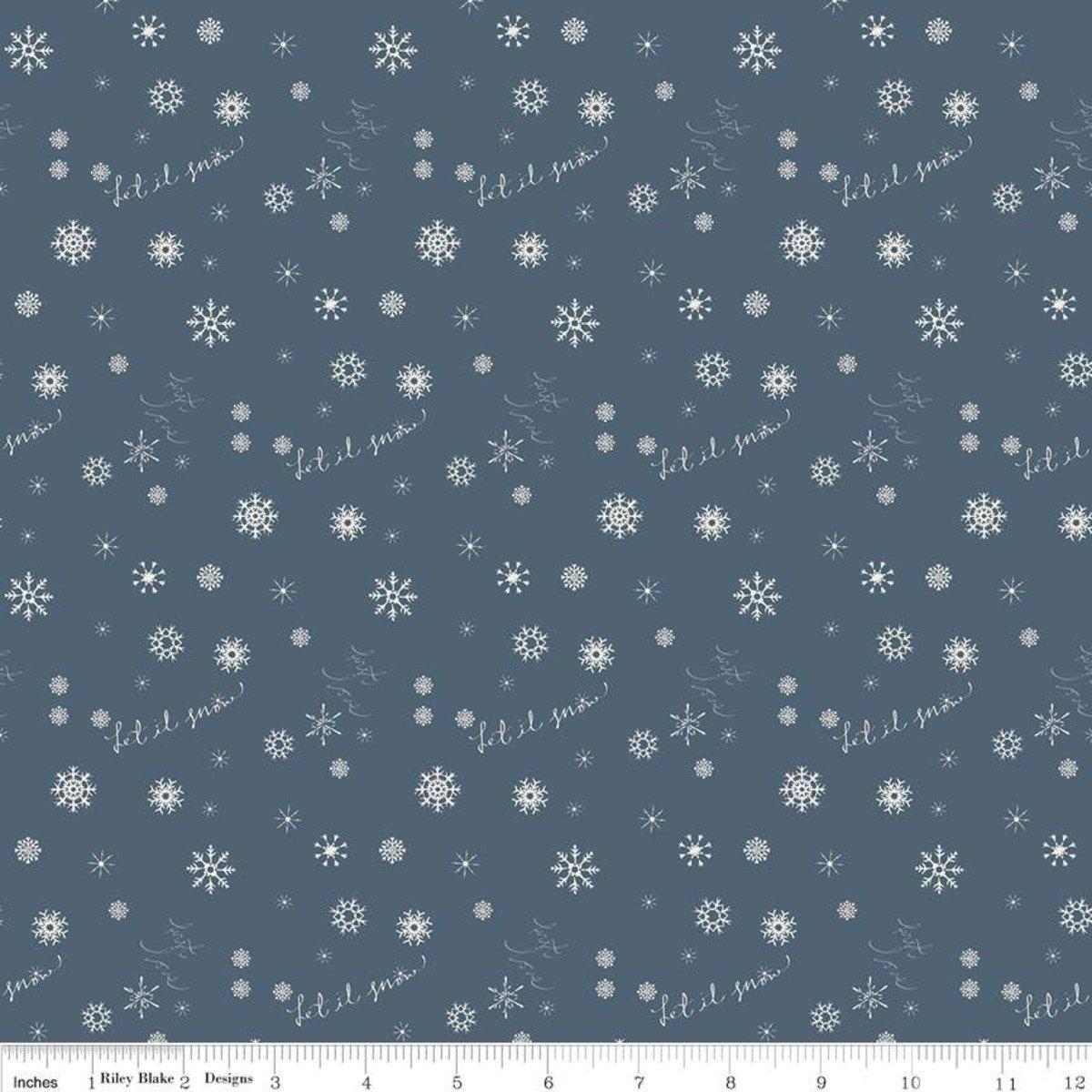 C7313  Blue  Winter Tales Snowflake by Minki Kim for Riley Blake Designs