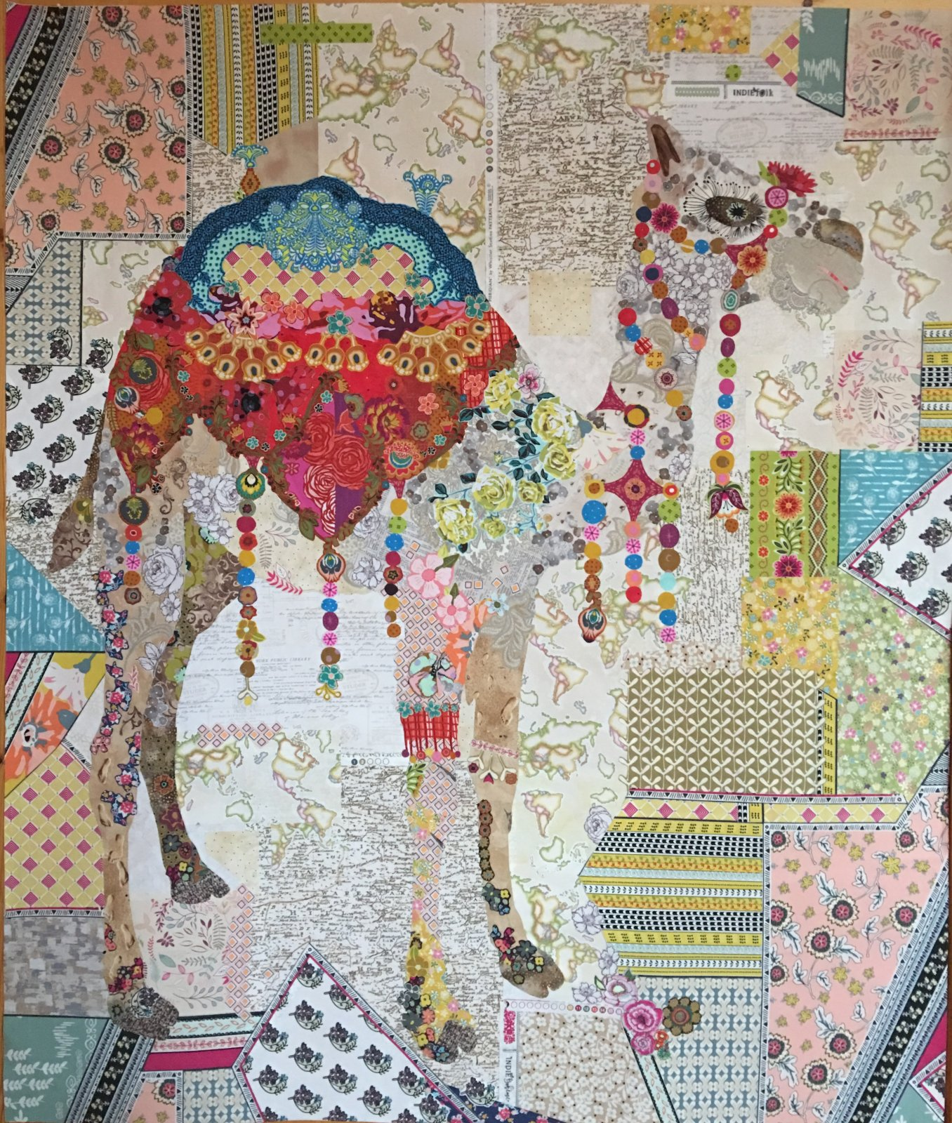 Caleb Camel Collage Quilt Pattern by Laura Heine