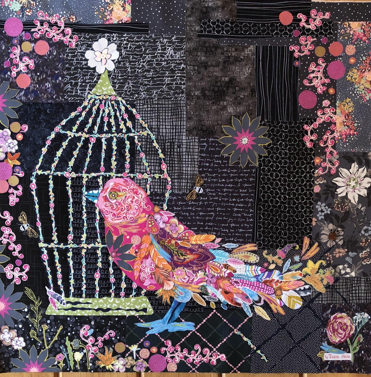 Songbird Collage Pattern by Laura Heine