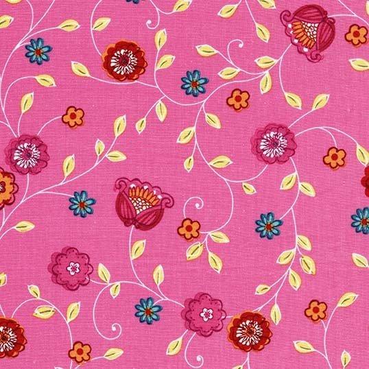 CX7655 PEON D Pink Bells for Michael Miller Fabrics. 100% cotton 43 wide
