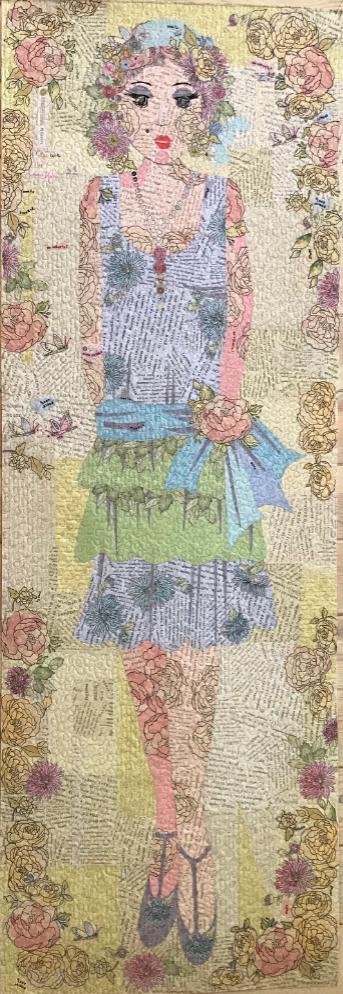 Daisy Fey Collage Quilt Pattern by Laura Heine.