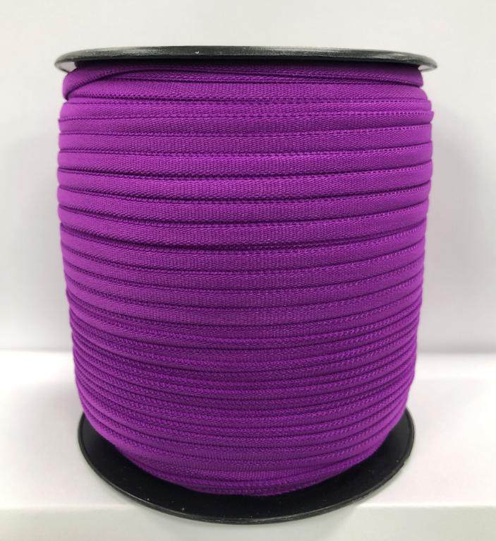 1/6 Banded Stretch Elastic Dark Purple