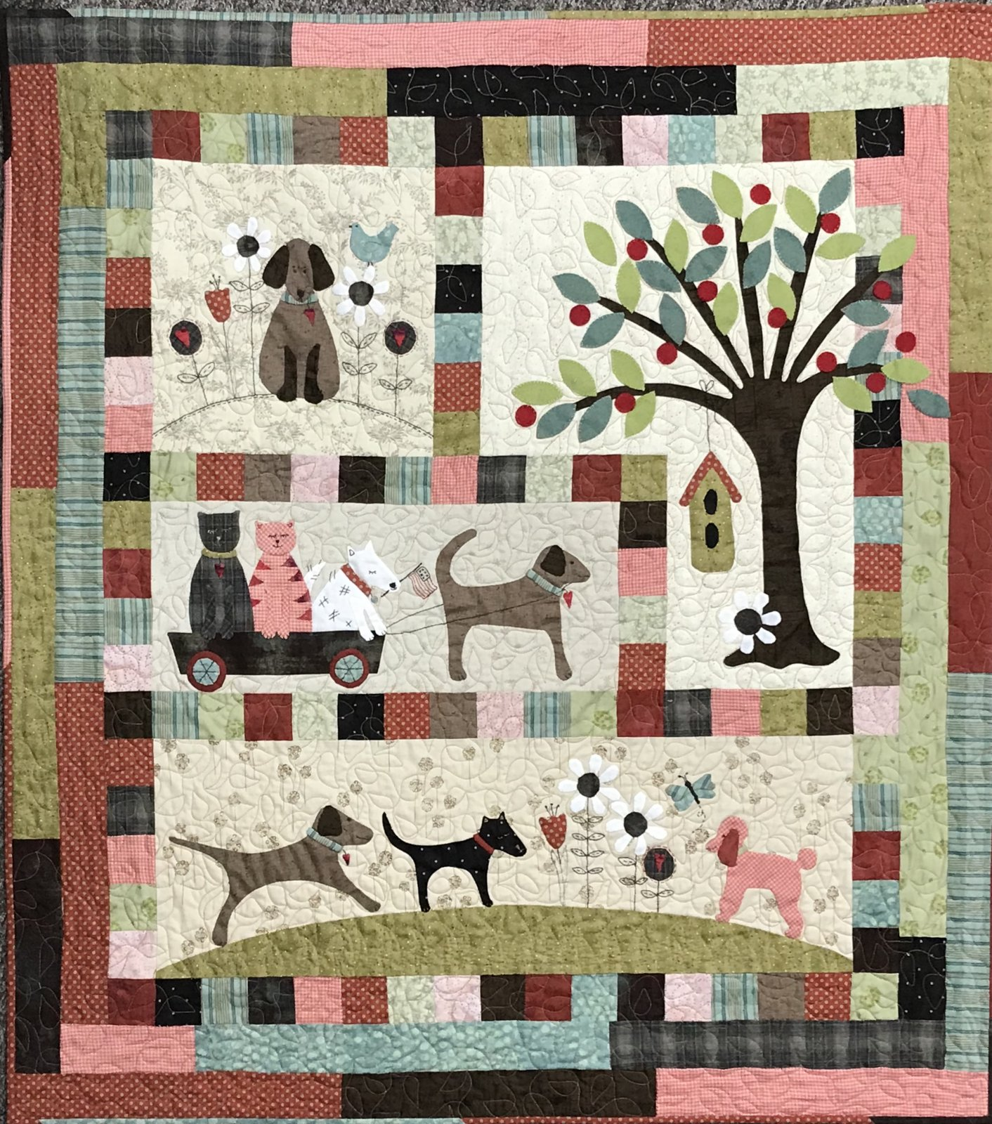 Dogs Life Quilt Lauras Destash