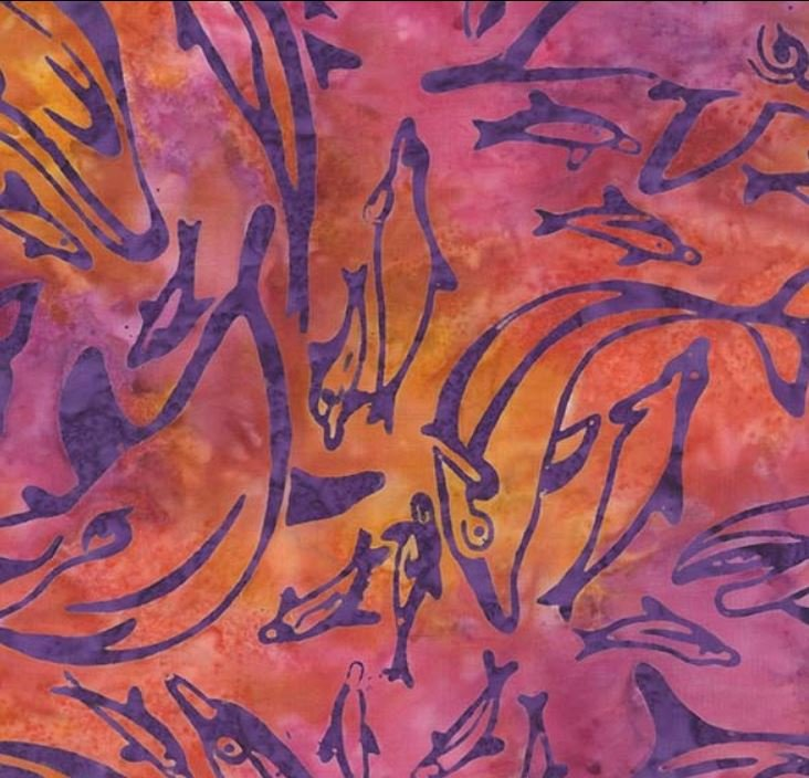 BT7778 SUNK D DOLPHIN DANCE BATIK for Michael Miller Fabrics. 100% cotton 43 wide