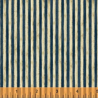 32375 2 Uncle Sam Stripe in blue by Nancy Gere for Windham Fabri