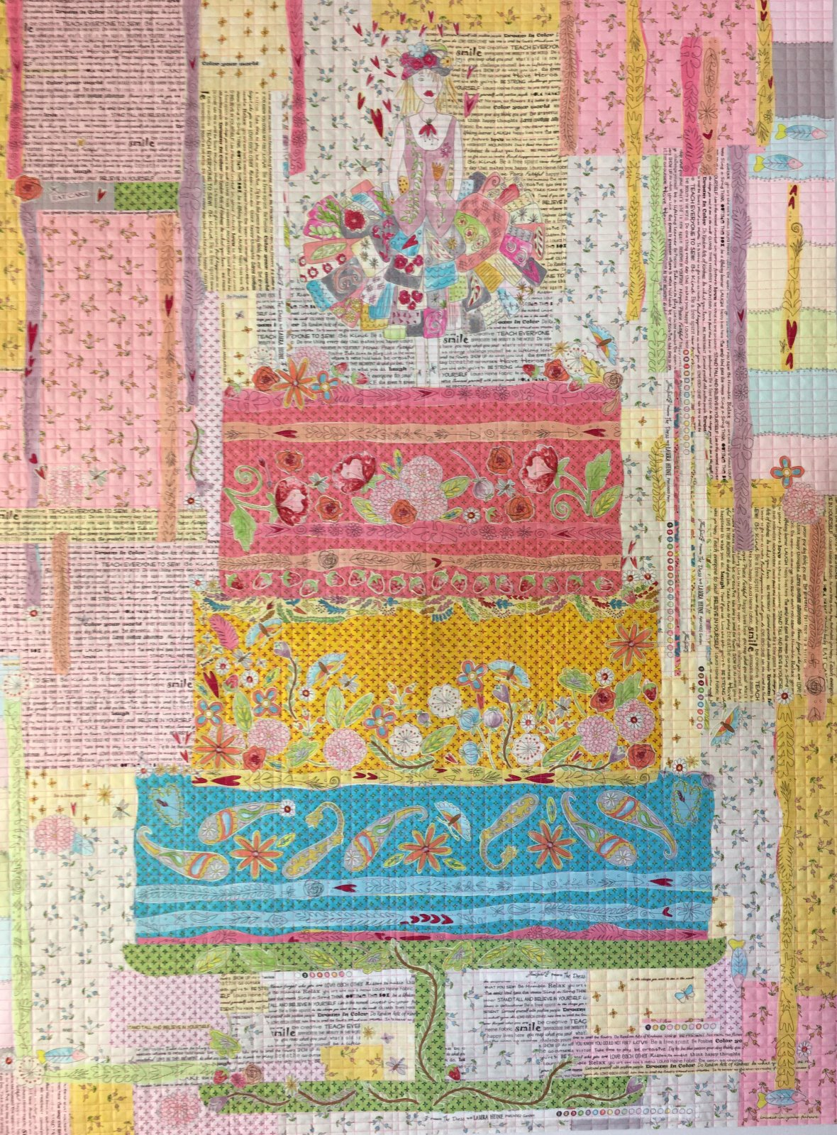 Eat Cake Collage Quilt Kit by Laura Heine - SPECIAL INCLUDES PATTERN!