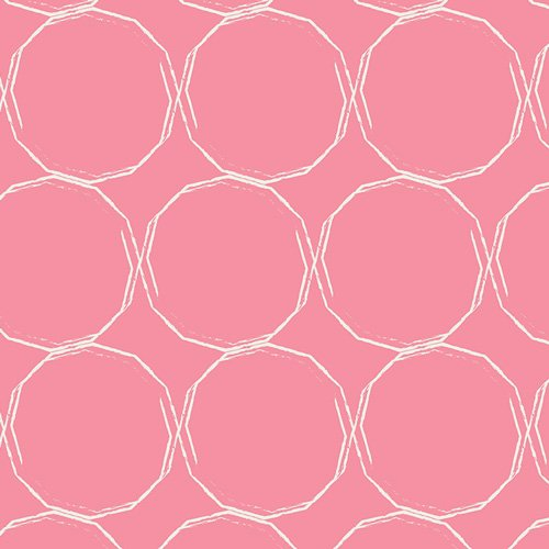 ESS II 253 HULA HOOPS BLUSH  ESSENTIAL II COLLECTION FOR ART GALLERY FABRIC