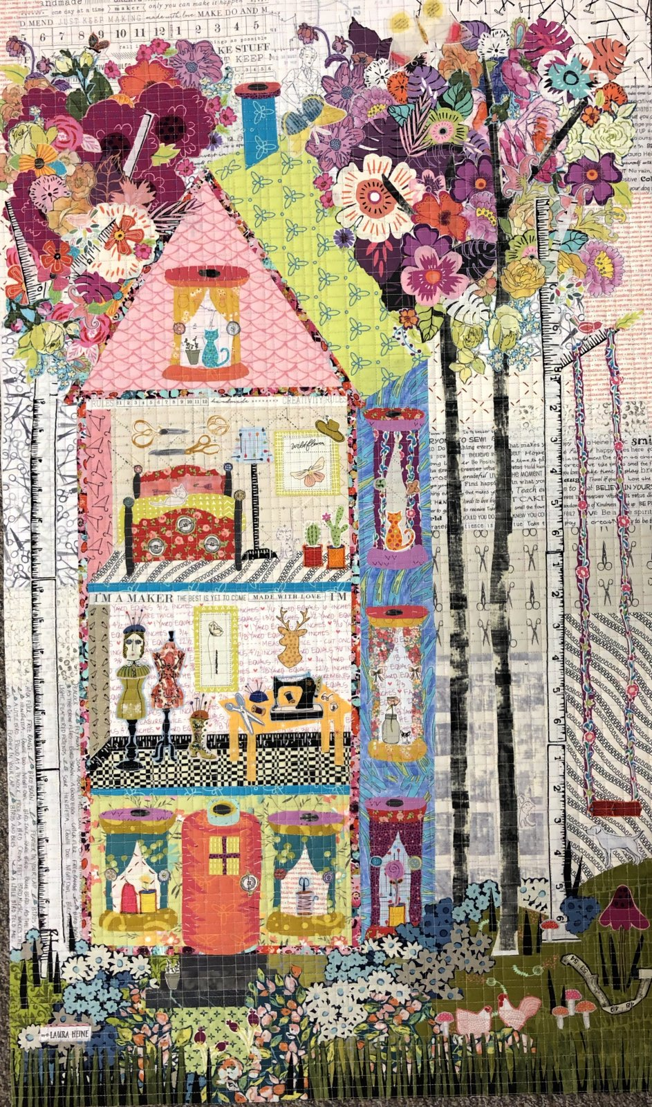 The Quilt Studio Collage Pattern by Laura Heine