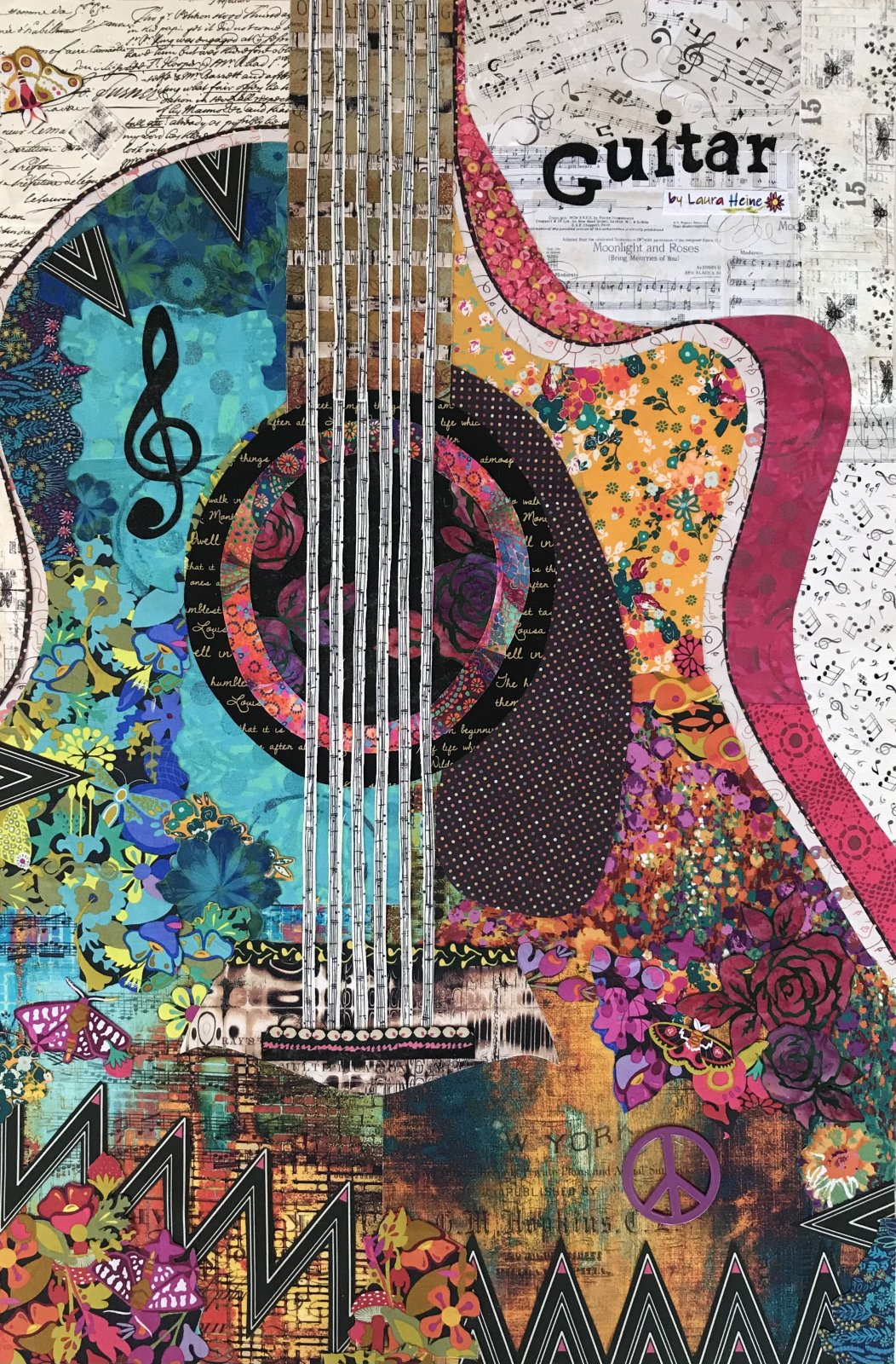 Guitar Collage Kit by Laura Heine PREORDER ONLY
